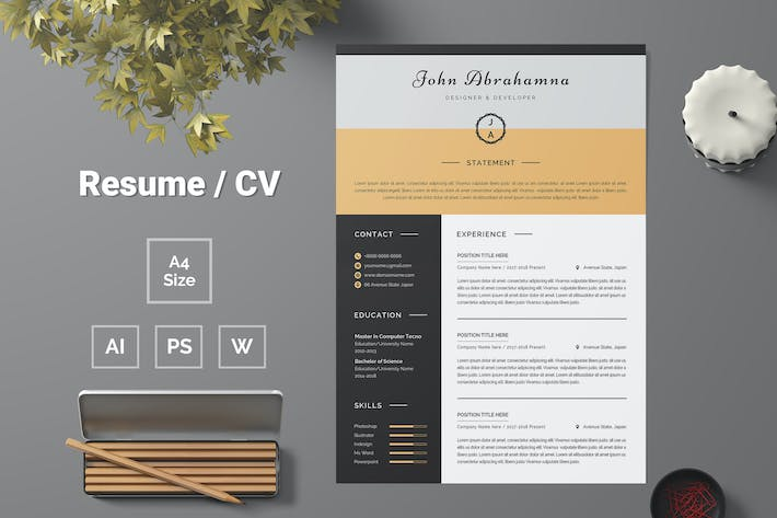 Thumbnail for Resume Template 83