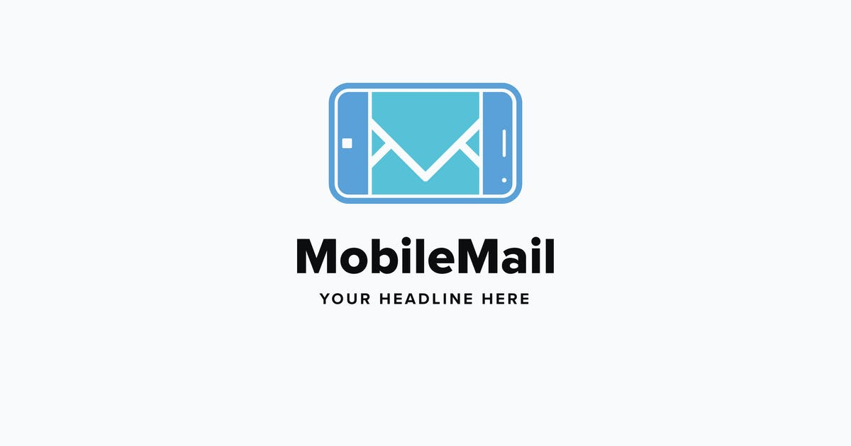 Mobile Mail Logo Template by Pixasquare
