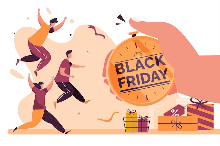Thumbnail for Ограниченное предложение Black Friday - Плоская иллюстрация