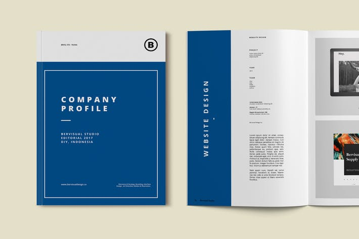 Cover Image For Company Brochure Template
