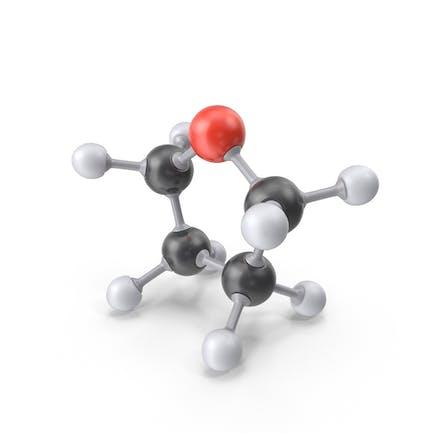 Молекула тетрагидрофурана