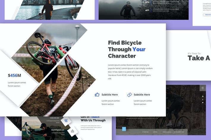 Thumbnail for Cyclope - Bicycle Google Slides Template