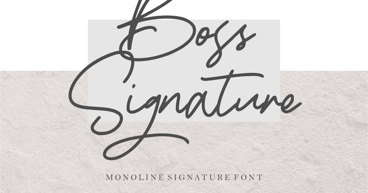 Download Boss Signature   Handwritten Font by garisman