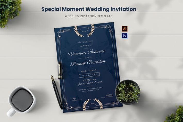 Special Momment Wedding Invitation