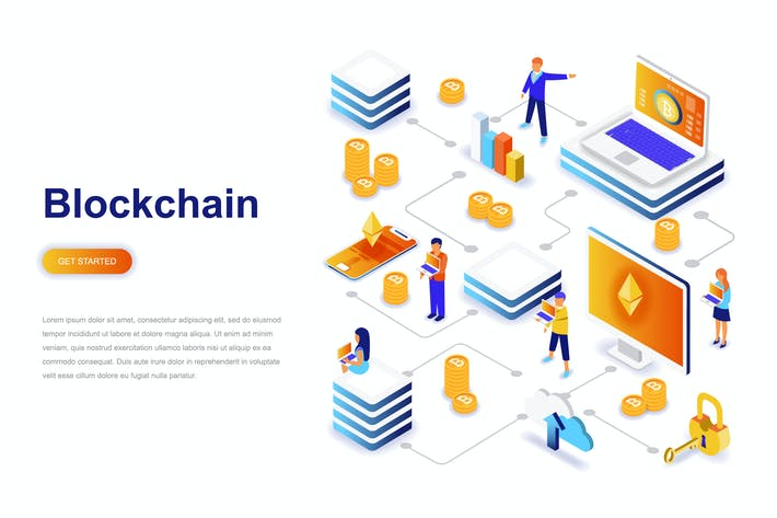 Thumbnail for Blockchain and Cryptocurrency Isometric Concept