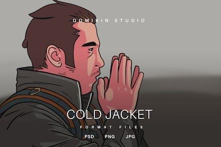 Illustration der kalten Jacke