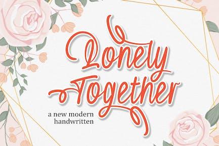 DS Lonely Together - Manuscrit moderne