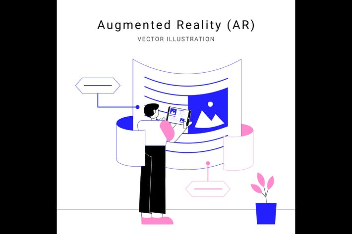 Thumbnail for Augmented Reality Vector Illustration
