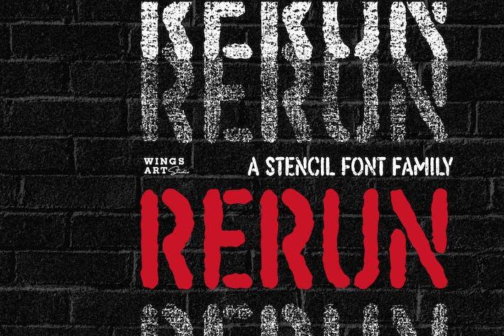Rerun: A Stencil Famille de polices
