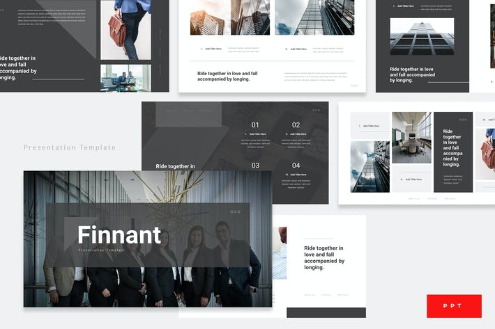 Thumbnail for Finnant - Corporate Finance Powerpoint Template