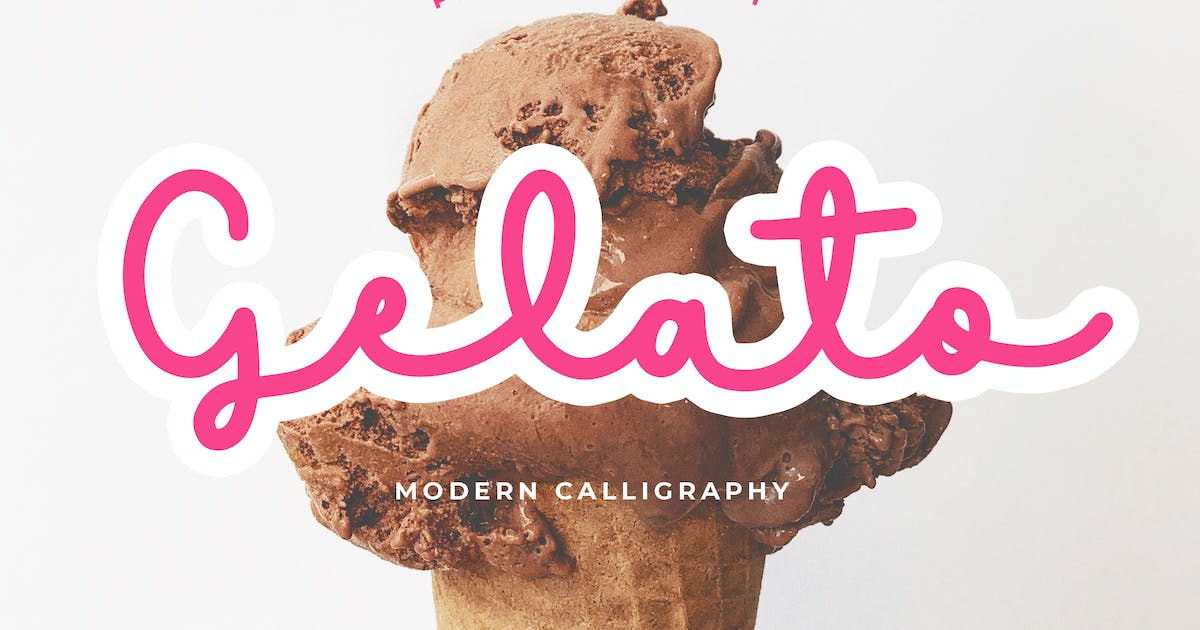 Download Gelato Modern Calligraphy Font by Formatika