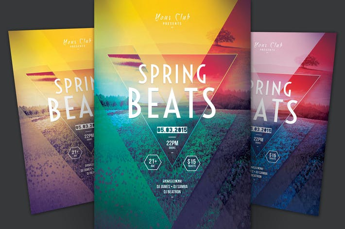 Cover Image For Spring Beats Flyer