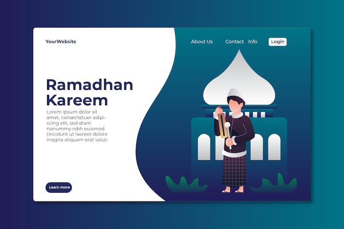 Ramadhan Kareem Landing Page Illustration