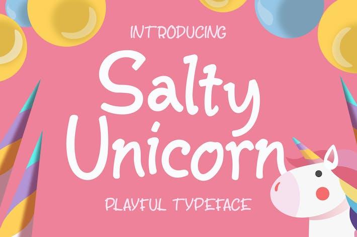Thumbnail for Salty Unicorn Playful Typeface