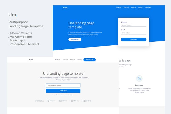 Thumbnail for Ura Multipurpose Landing Page Template