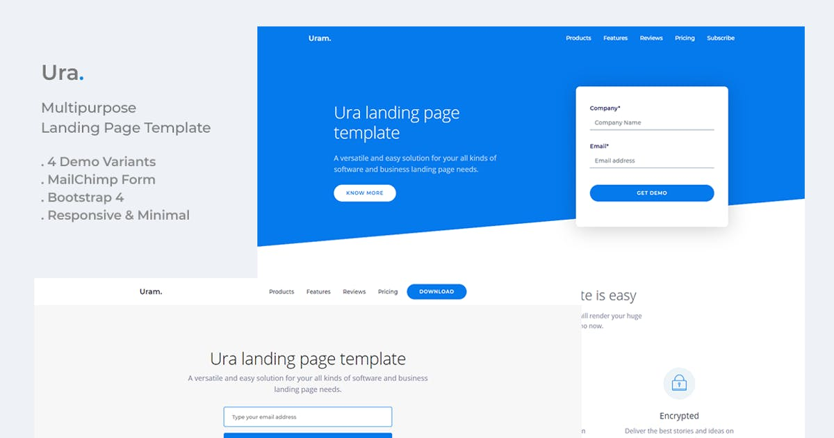 Download Ura Multipurpose Landing Page Template by YDirectionThemes