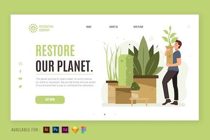 Restore Our Planet -  Web Illustration