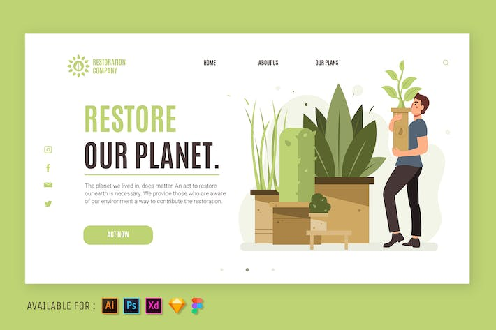 Restore Our Planet -  Web Illustration