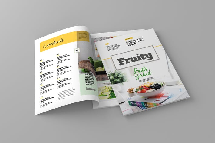 Thumbnail for Fruity -  Magazine Template