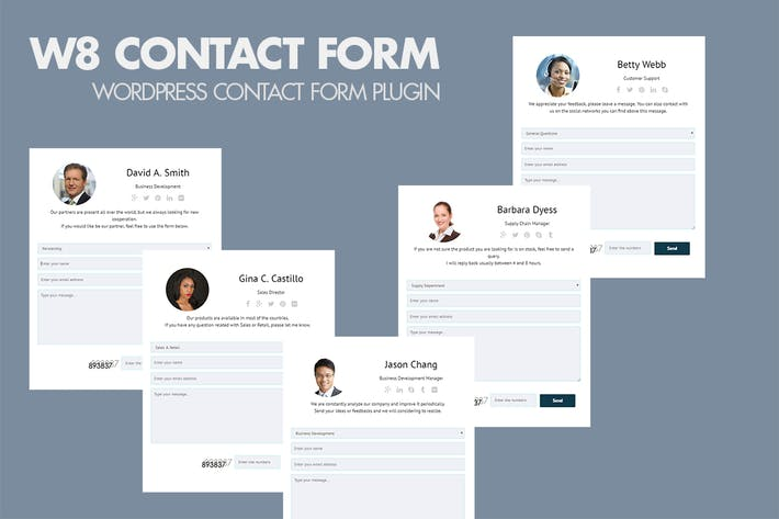 Thumbnail for W8 Contact Form - WordPress Contact Form Plugin