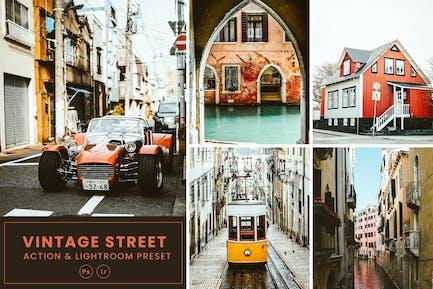 Vintage Street Action & Lightrom Presets