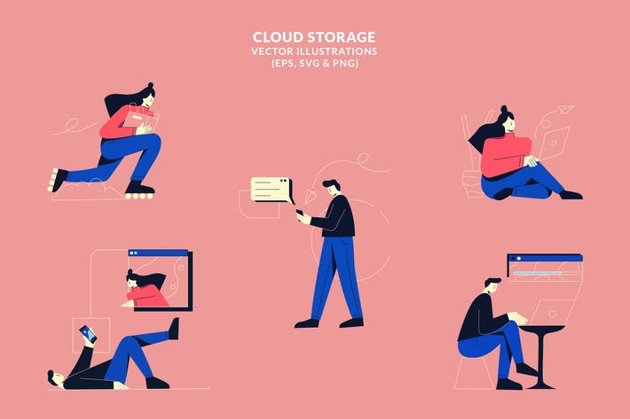 Cloud Storage - Vector Illustrations