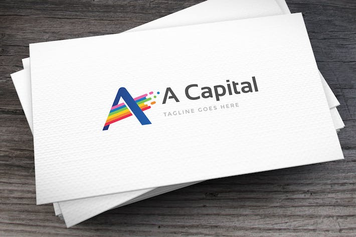 Cover Image For Active Colors Letter A Logo Template