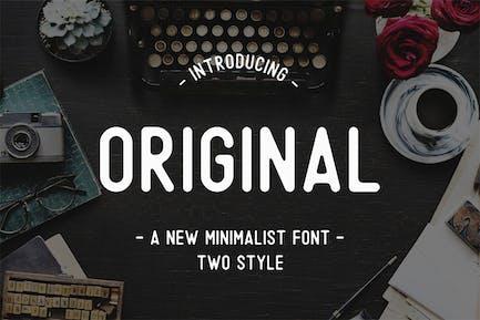 Original - Una fuente minimalista