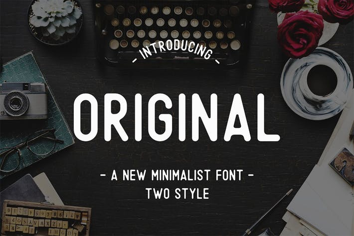 Thumbnail for Original - A Minimalist Font
