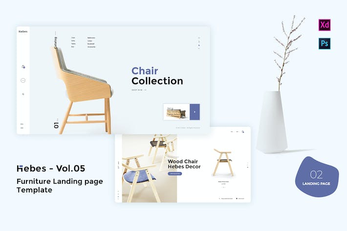 Thumbnail for HEBES Vol.05 - Furniture Landing page Template