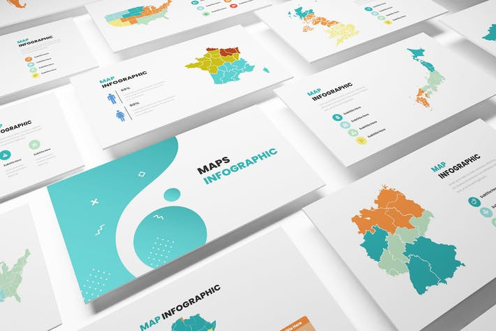Thumbnail for Maps Infographic Powerpoint Template