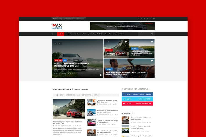 Thumbnail for Car Magazine PSD Template