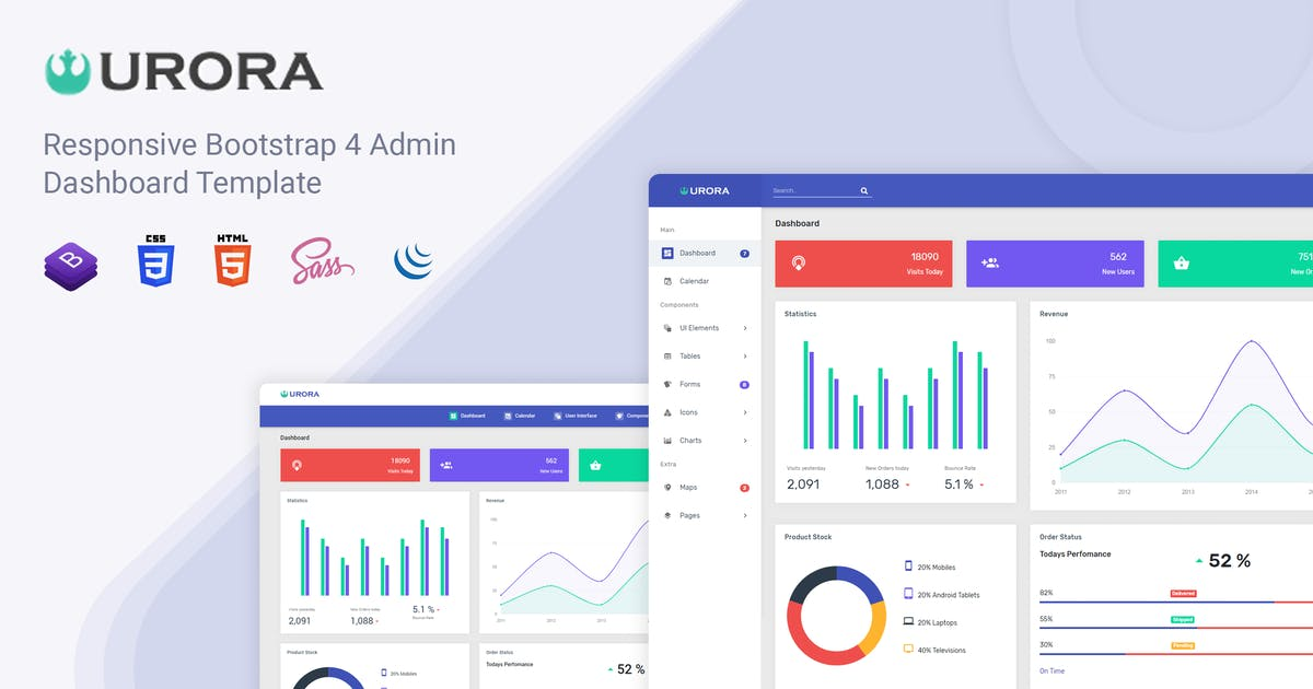 Download Urora - Material Design Admin Dashboard Template by Mannat-Themes