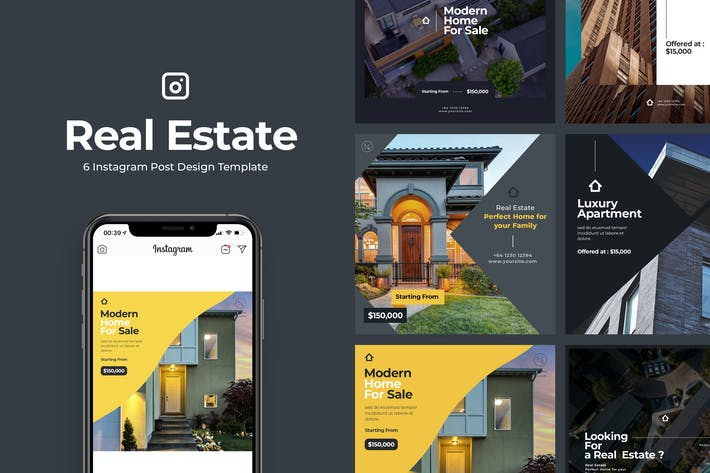 Thumbnail for 6 Real Estate Instagram Post Vol.1