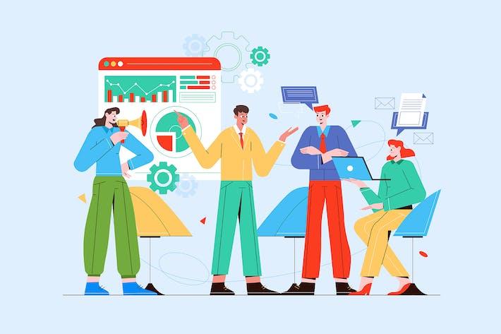 Digital Marketing - Vector Illustration