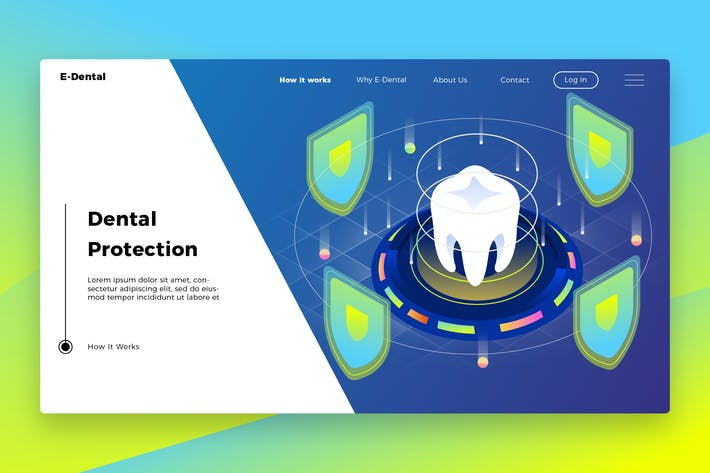 Thumbnail for Dental Protection - Banner & Landing Page