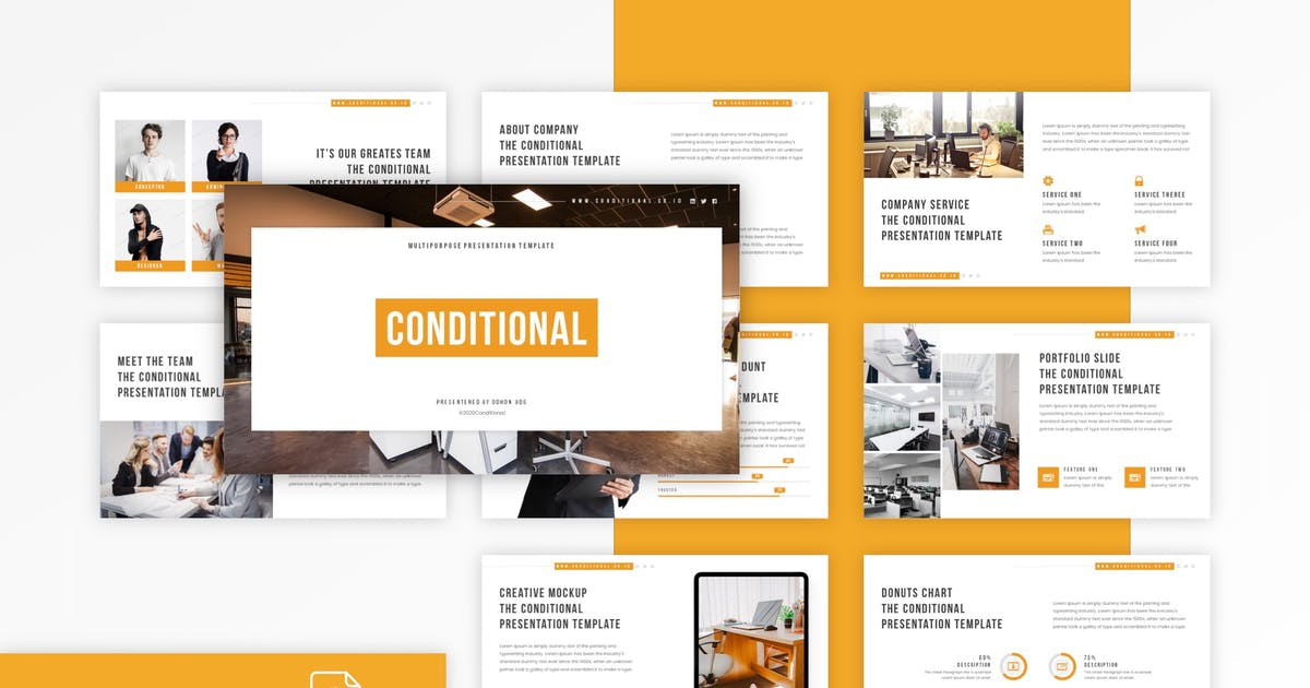Download Conditional - Multipurpose Keynote Template by CocoTemplates