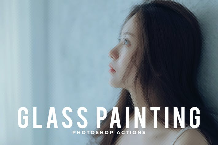 Thumbnail for Glass Painting Photoshop Actions