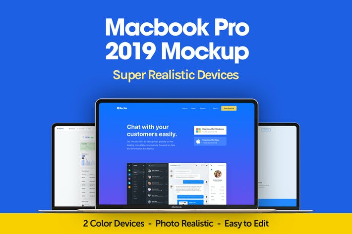 Thumbnail for Macbook Pro 2019 Mockup