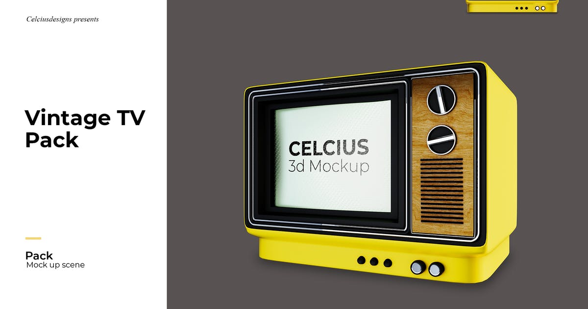 Download Television Mockup by celciusdesigns