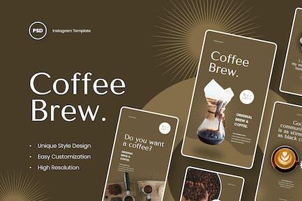 Coffee Brew -  Coffee Instagram Stories Template