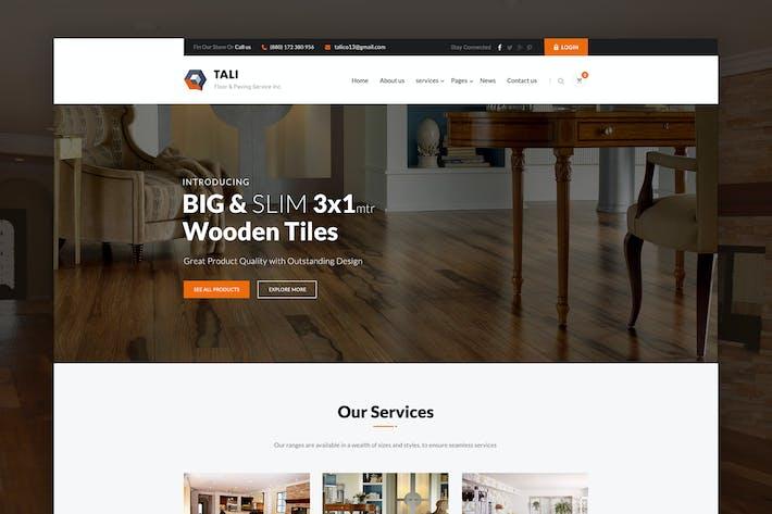 TALI - Flooring, Paving & Tiling PSD Template