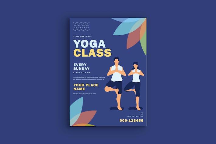 Affiche de classe de yoga