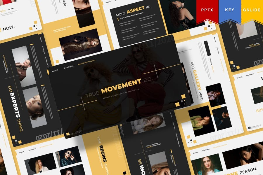 Movement | Powerpoint, Keynote, Google Slides
