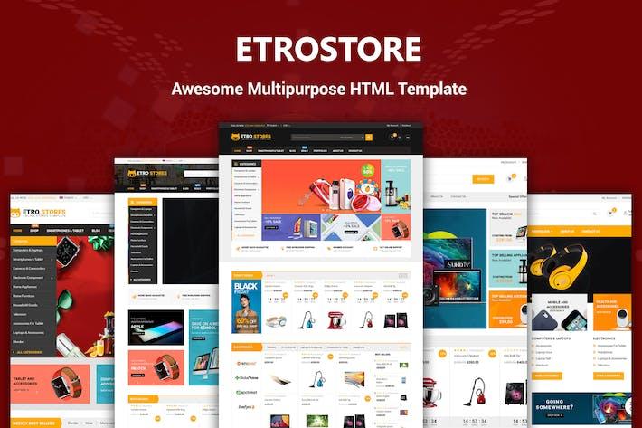 Thumbnail for eTROStore - Plantilla HTML multiusos Responsivo