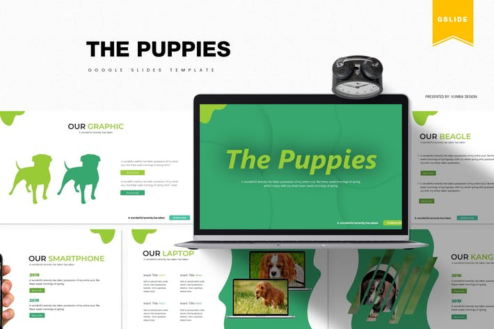 Thumbnail for The Puppies | Google Slides Template