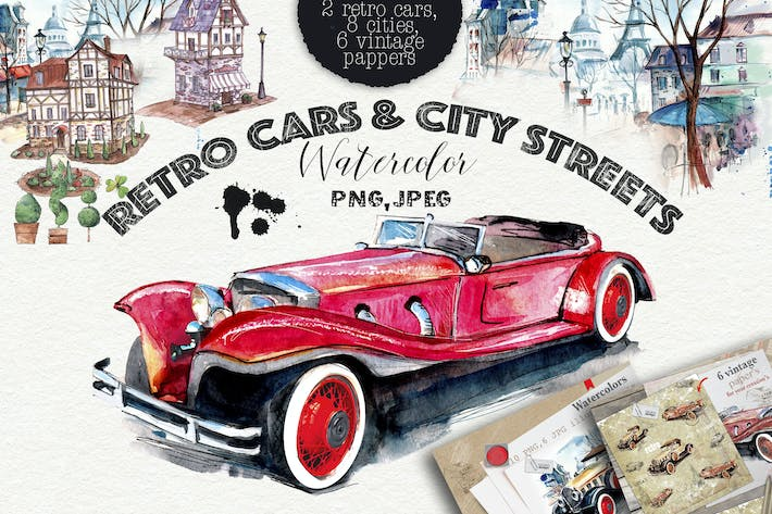 Thumbnail for Retro cars & cities streets