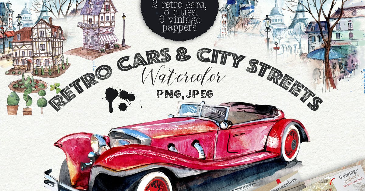 Download Retro cars & cities streets by MikiBith