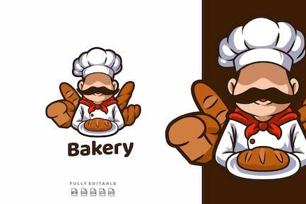 Bakery Bread Mascot Logo