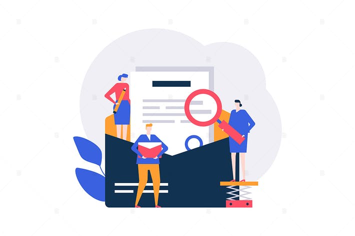 Thumbnail for Email marketing - flat design style illustration